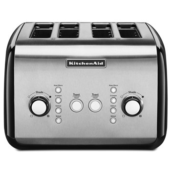 KitchenAid Classic Stainless Steel 4 Slice Toaster 39 x 35 x 26cm Onyx Black